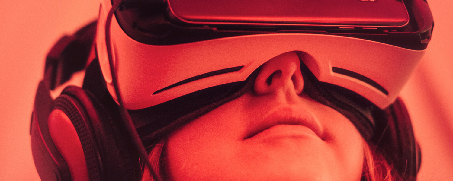 image of girl wearing vr device