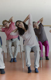 image of seniors exercising