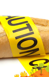 A loaf of bread with caution tape