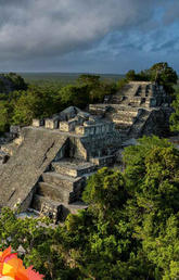 A Mayan pyramid in the jungle