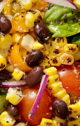 A corn and black bean salad