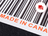image of code bar with made in canada text