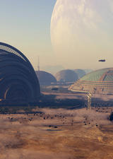 concept illustration of mars colony